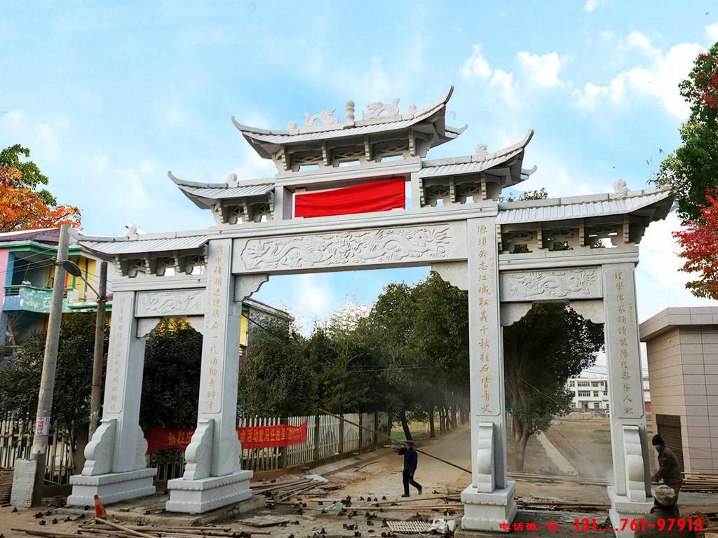 内蒙古巴林右旗单门牌楼门头价格多少钱