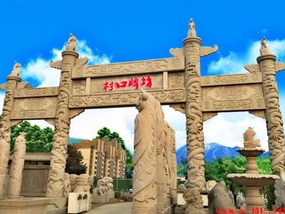 河北省定兴县村牌坊石门结构制作厂家