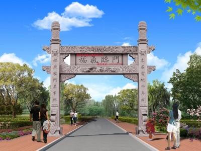 湖南省耒阳市新农村石门楼结构制作厂家