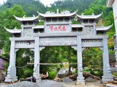 江苏省海安县单门牌楼门头雕刻制作加工厂
